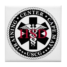 USCG-TRACEN-CpMy-Health-Services-Mess Tile Coaster
