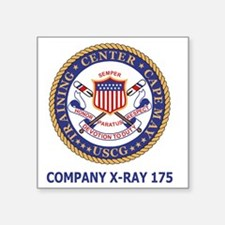 "USCG-Recruit-Co-X175-Shirt- Square Sticker 3"" x 3"""
