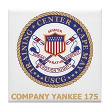 USCG-Recruit-Y175-Black-Shirt Tile Coaster