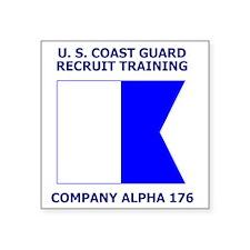 "USCG-Recruit-Co-A176-Shirt- Square Sticker 3"" x 3"""