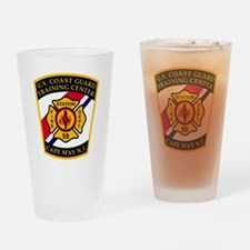 USCG-TRACEN-CpMy-Fire-Dept-Bonnie.g Drinking Glass