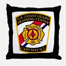 USCG-TRACEN-CpMy-Fire-Dept-Bonnie.gif Throw Pillow