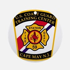 USCG-TRACEN-CpMy-Fire-Dept-Bonnie.g Round Ornament