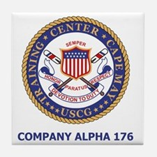 USCG-Recruit-Co-A176-Shirt-2.gif Tile Coaster