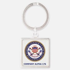 USCG-Recruit-Co-A176-Shirt-2.gif Square Keychain