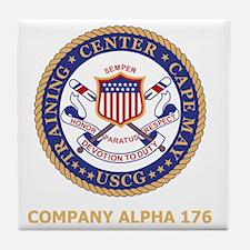 USCG-Recruit-A176-Black-Shirt Tile Coaster