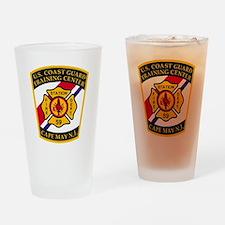 3-USCG-TRACEN-CpMy-Fire-Dept-Black- Drinking Glass