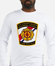 3-USCG-TRACEN-CpMy-Fire-Dept-B Long Sleeve T-Shirt