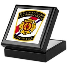 3-USCG-TRACEN-CpMy-Fire-Dept-Black-Sh Keepsake Box