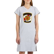 3-USCG-TRACEN-CpMy-Fire-Dept-Bl Women's Nightshirt