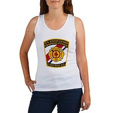 3-USCG-TRACEN-CpMy-Fire-Dept-Blac Women's Tank Top