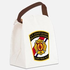 3-USCG-TRACEN-CpMy-Fire-Dept-Blac Canvas Lunch Bag