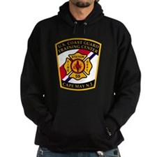 3-USCG-TRACEN-CpMy-Fire-Dept-Black-S Hoodie
