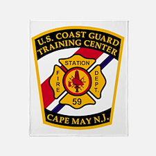 3-USCG-TRACEN-CpMy-Fire-Dept-Black-S Throw Blanket