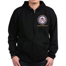 USCG-Recruit-B176-Black-Shirt Zip Hoodie