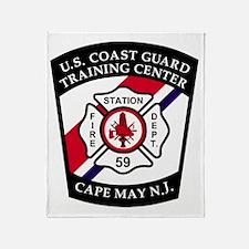 USCG-TRACEN-CpMy-Fire-Dept-Messenger Throw Blanket