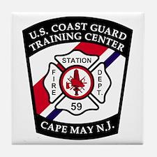 USCG-TRACEN-CpMy-Fire-Dept-Messenger. Tile Coaster