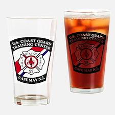USCG-TRACEN-CpMy-Fire-Dept-Messenge Drinking Glass