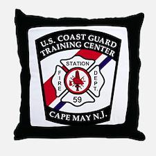 USCG-TRACEN-CpMy-Fire-Dept-Messenger. Throw Pillow