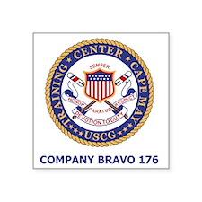 "USCG-Recruit-Co-B176-Shirt- Square Sticker 3"" x 3"""