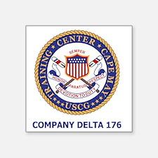 "USCG-Recruit-Co-D176-Shirt- Square Sticker 3"" x 3"""