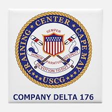 USCG-Recruit-Co-D176-Shirt-2.gif Tile Coaster