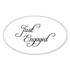 Just Engaged Oval Decal
