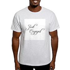 Just Engaged Ash Grey T-Shirt