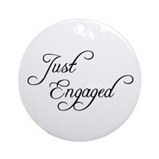 Just Engaged Ornament (Round)