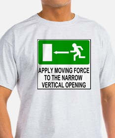 Sign-Apply-Force-To-Vertical-Opening T-Shirt