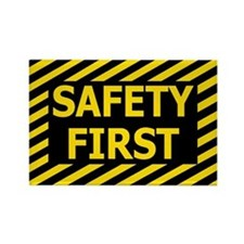 Safety-First-Black-Cap.gif Rectangle Magnet