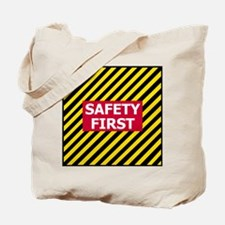 3-Safety-First-Tile.gif Tote Bag