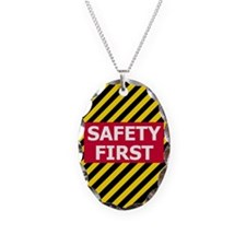 3-Safety-First-Tile.gif Necklace Oval Charm