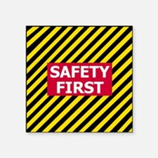 """3-Safety-First-Tile.gif Square Sticker 3"""" x 3"""""""