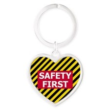 3-Safety-First-Tile.gif Heart Keychain