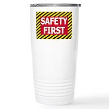 Safety-First-Sticker.gif Travel Mug