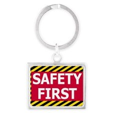 Safety-First-Sticker.gif Landscape Keychain