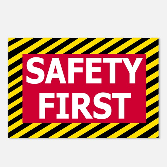 Safety-First-Sticker.gif Postcards (Package of 8)