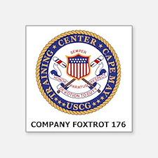 "USCG-Recruit-Co-F176-Shirt- Square Sticker 3"" x 3"""
