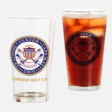 USCG-Recruit-G176-Black-Shirt Drinking Glass