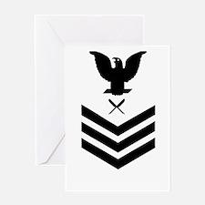 USCG-YN1-Green-Shirt Greeting Card