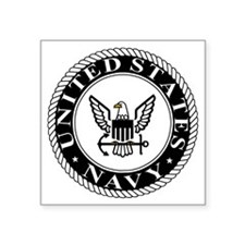 "navy-logo-15-sn.gif Square Sticker 3"" x 3"""