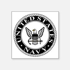 "navy-logo-15-sn.gif Square Sticker 3"" x 3"""