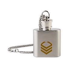 USCG-TCCM-Black-Shirt Flask Necklace