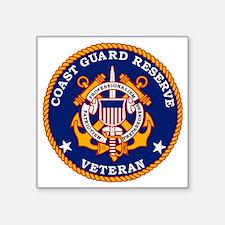 """USCGR-Veteran-Bonnie.gif Square Sticker 3"""" x 3"""""""