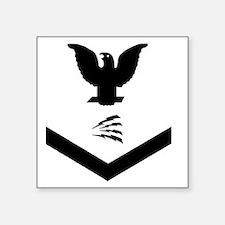 "Navy-IT3-Whites-Squared.gif Square Sticker 3"" x 3"""