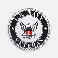 Navy-Veteran-Bonnie-3.gif Round Ornament
