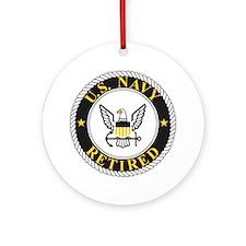 Navy-Retired-Bonnie-3.gif Round Ornament