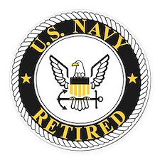 Navy-Retired-Bonnie-3.gif Round Car Magnet