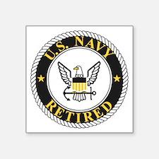 "Navy-Retired-Bonnie-3.gif Square Sticker 3"" x 3"""